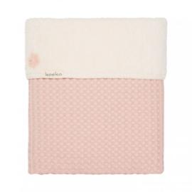 Koeka wiegdeken wafel/teddy Oslo   Shadow pink/light shadow pink