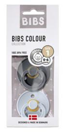 BIBS - Duo - Baby Blue & Iron