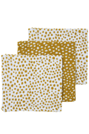 Meyco - 3 Pak Monddoekjes Cheeta Honey