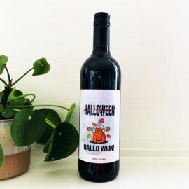 Halloween - Hallo wijn - wijnetiket