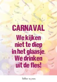 Carnaval 2021 - Drinken uit de fles - Etiket Wijn