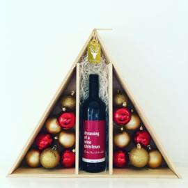 Kerst Wijnkist (met of zonder wijn) - Kerstmis