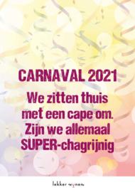 Carnaval 2021 - Super Chagrijnig - Etiket Wijn