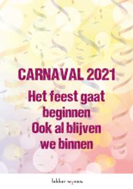 Carnaval 2021 - We Blijven Binnen - Etiket Wijn