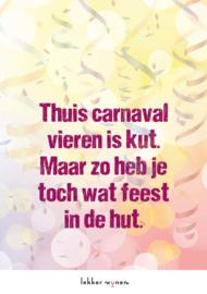 Carnaval 2021 - Toch nog feest - Etiket Wijn