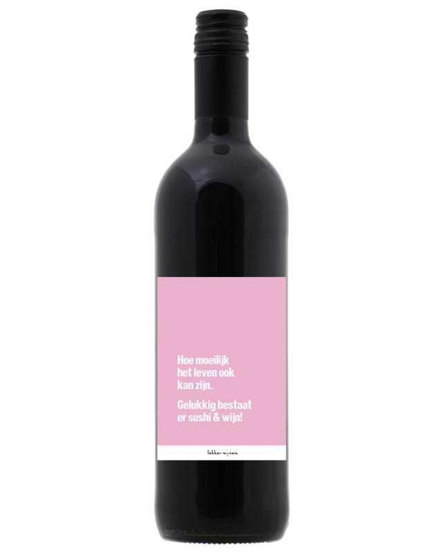 Sushi en wijn - Wijn en/of Etiket