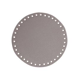 GoHandMade  Tas/mand bodem - beige, PU- leather - rond D17 cm