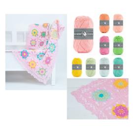 Pakket Coaster Square Deken Roze JipByJan