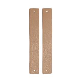 GoHandMade Handvaten voor klinknagels apricot - PU Leather 18x2,2cm set/2