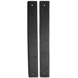 GoHandMade Handvaten voor klinknagels black - PU Leather 22x2,2cm set/2