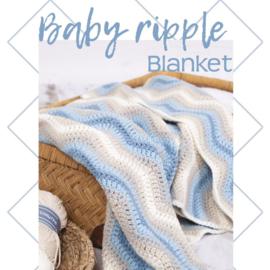 Pakket Baby Ripple Blanket Blue