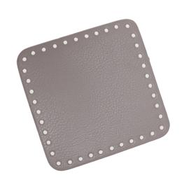 GoHandMade Tas/mand bodem - beige, PU- leather - vierkant 15x15 cm