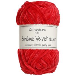 """GoHandMade Bohème Velvet """"double"""" Warm Red"""