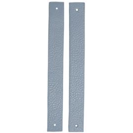 GoHandMade Handvaten voor klinknagels blue - PU Leather 22x2,2cm set/2
