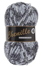Lammy Yarns Chenille 6 - 601 gemêleerd grijs
