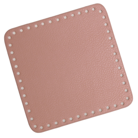 GoHandMade Tas/mand bodem - rose, PU- leather - vierkant 18x18 cm
