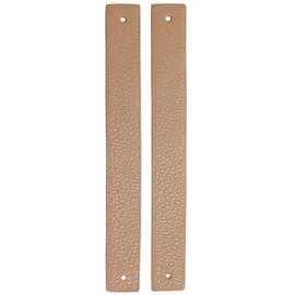 GoHandMade Handvaten voor klinknagels apricot - PU Leather 22x2,2cm set/2