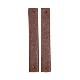 GoHandMade Handvaten voor klinknagels brown - PU Leather 18x2,2cm set/2