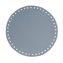 GoHandMade Tas/mand bodem - blue, PU- leather - rond D20 cm
