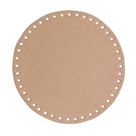 GoHandMade Tas/mand bodem - apricot, PU- leather - rond D20 cm