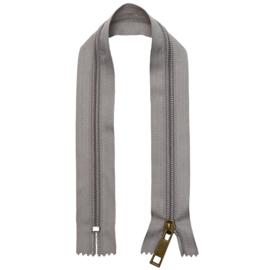 GoHandMade nylon rits- grijs/brons - 30 cm