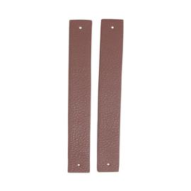GoHandMade Handvaten voor klinknagels lavender - PU Leather 18x2,2cm set/2