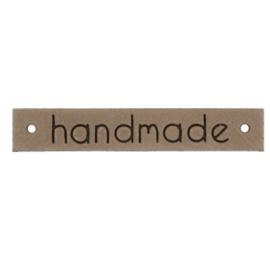 Leren Label Handmade beige