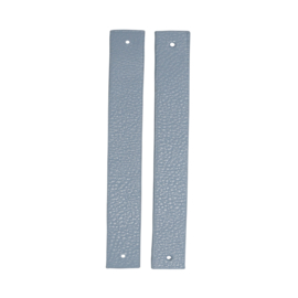 GoHandMade Handvaten voor klinknagels blue - PU Leather 18x2,2cm set/2