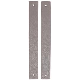 GoHandMade Handvaten voor klinknagels beige - PU Leather 22x2,2cm set/2