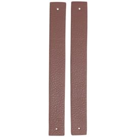 GoHandMade Handvaten voor klinknagels lavender - PU Leather 22x2,2cm set/2