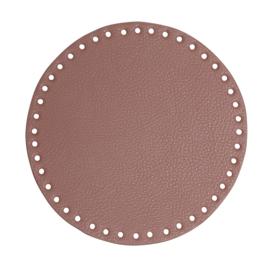 GoHandMade Tas/mand bodem - lavender, PU- leather - rond D20 cm