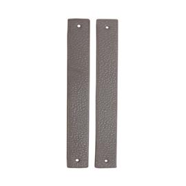 GoHandMade Handvaten voor klinknagels light grey - PU Leather 18x2,2cm set/2