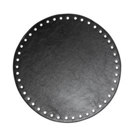 GoHandMade Tas/mand bodem - black, PU- leather - rond D20 cm
