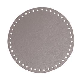GoHandMade Tas/mand bodem - beige, PU- leather - rond D20 cm