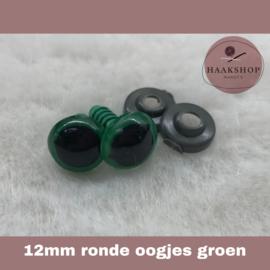 Veiligheidsoogjes groen rond 12mm 1 paar