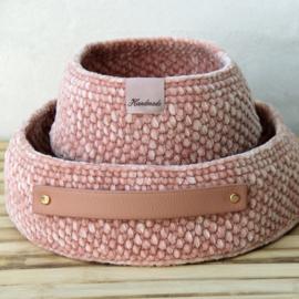 Patroon: Moss Stitch Mandje met PU leather base
