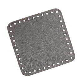 GoHandMade Tas/mand bodem - grey, PU- leather - vierkant 15x15 cm