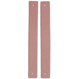 GoHandMade Handvaten voor klinknagels rose - PU Leather 22x2,2cm set/2