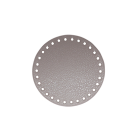 GoHandMade Tas/mand bodem - beige PU- leather - rond D13 cm