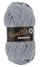 Lammy Yarns Chenille 6 - 003 licht grijs