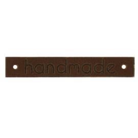 Leren Label Handmade bruin