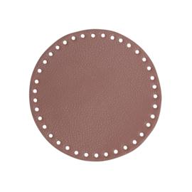 GoHandMade Tas/mand bodem - lavender, PU- leather - rond D17 cm