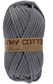 Lammy Yarns Chunky Cotton - 002 Grijs