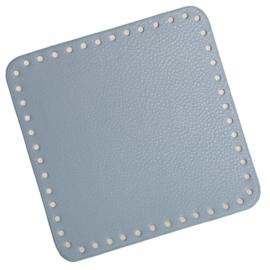 GoHandMade Tas/mand bodem - blue, PU- leather - vierkant 18x18 cm
