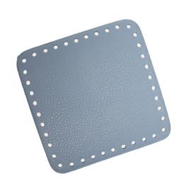 GoHandMade Tas/mand bodem - blauw, PU- leather - vierkant 15x15 cm