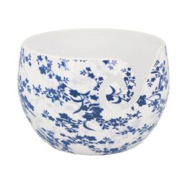 Scheepjes Yarn bowl Blue Leaf onbreekbaar 15x10cm