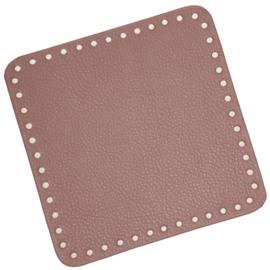GoHandMade Tas/mand bodem - lavender, PU- leather - vierkant 18x18 cm