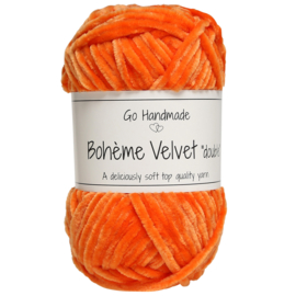 "GoHandMade Bohème Velvet ""double"" Warm Orange"