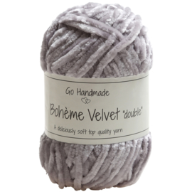 "GoHandMade Bohème Velvet ""double"" Grey"