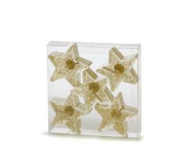Gelwax ster kaarsen set van 5